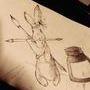 大小耳的野兔